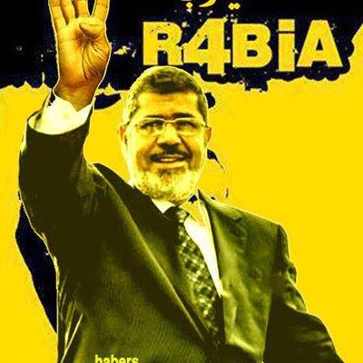 شارة رابعة العدوية رمز الأخوان المسلمين