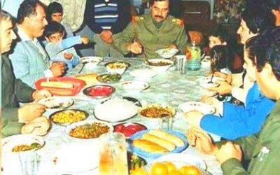مع صدام حسين على مائدة الطعام!